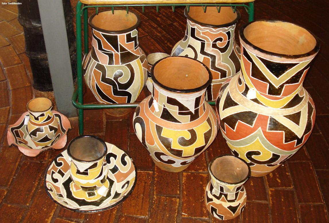 Artesanato Valorizado ~ Artesanato indígena, habilidades na terra e com o barro Lugares ECO